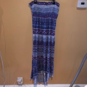 High Low Long TubeTop Dress